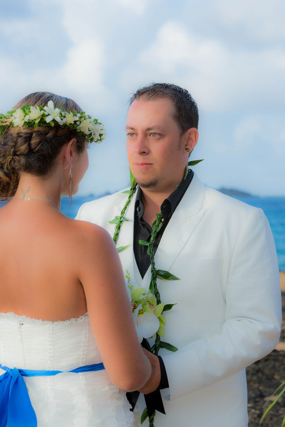 Love capturing the emotions of the groom as he gazes into his brides eyes.
